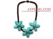 Elegant Style Turquoise Flower Necklace